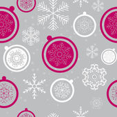 Happy New Year and Marry Christmas Seamless Pattern Background — Stock Vector