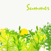 Abstract Summer Natural Background Vector Illustration — 图库矢量图片