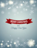 クリスマス雪背景ベクトル イラスト — ストックベクタ