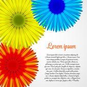 Abstracte kleurrijke achtergrond met bloemen. vectorillustratie — Stockvector