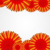花と抽象的なカラフルな背景。ベクトル イラスト — ストックベクタ