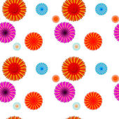 Abstract Colorful Background with Flowers. Seamless Pattern. Vec — Stock Vector