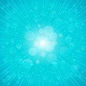 Blue Summer Background. Vector Illustration — Stock Vector