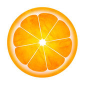 Slice of orange illustration isolated on white — Stock Photo