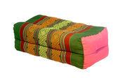 孤立的泰式风格棉枕头 — 图库照片