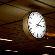 Stock Photo: Public clock In railway station
