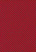 Puntíková zelené vinobraní vzorek na červenou látkou textury — Stock fotografie
