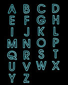 Font laser light alphabet a-z — Foto de Stock