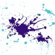 Purple and light blue splash painting — Stock Photo