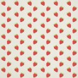 Seamless strawberry pattern — ストック写真