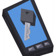 Phone and key — Stockvector #13823124