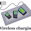 Wireless charging - Stockvectorbeeld
