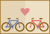 Bicycle and heart — Stockvektor