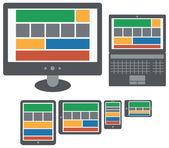 Screen of personal computer — Stock Vector