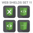 Vector collection of  xml web development shield signs: xml, tag — Stock Vector #41839829