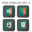 Vector collection of mysql web development shield signs: databas — Stock Vector #41839861