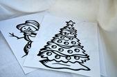 クリスマスの図面 — ストック写真