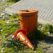 Stock Photo: Orange dustbin