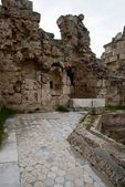 Ruins with marbel floors in ancient Salamis — Stock Photo