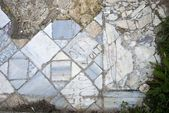 Ancient inscription on marbel floor in Salamis — Stock Photo