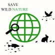 Stock Photo: Save wild nature