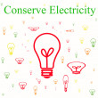 Conserve electricity — Stock Photo