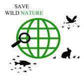 Save wild nature — Stock Photo