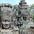 The Many Faces of Bayon Temple - Angkor Thom, Cambodia — Stock Photo