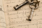 Old handwriting — Stock Photo