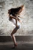 Dance Girl. Luxury Hairs — Stock Photo