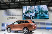A New Mitsubishi Outlander car on display at 82nd Geneva International Motor Show — Stock Photo