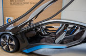 BMW Concept car i8 on display at 82nd Geneva International Motor — Stock Photo