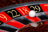 Classic casino roulette wheel with red sector eighteen 18 — Stock Photo
