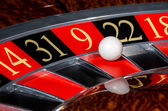 Classic casino roulette wheel with red sector nine 9 — Stock Photo