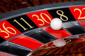 Classic casino roulette wheel with red sector thirty 30 — Stock Photo