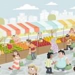 Market stall. — Stock Vector