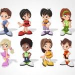 Cartoon kids — Stock Vector #13671687