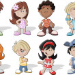 Cartoon kids — Stock Vector #13671717