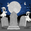 Halloween cemetery — Stock Vector #13672194