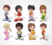 Cartoon kids — Vector de stock