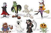 Halloween monster characters — Stock Vector