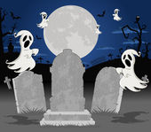 Halloween cemetery — Stock Vector