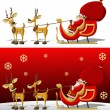 Santa-Claus on sleigh — Stock Vector