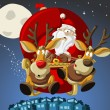 Santa-Claus on sleigh — Stock Vector #13750392