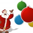 Santa Claus with christmas balls - Stockvectorbeeld