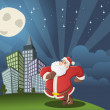 Santa Claus walking on the city — Stock Vector #13750527