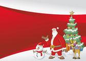 Mall med jultomten — Stockvektor
