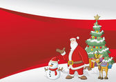 Template with Santa Claus — Vector de stock
