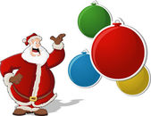 Kerstman met kerstballen — Stockvector