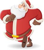Santa claus wandelen — Stockvector